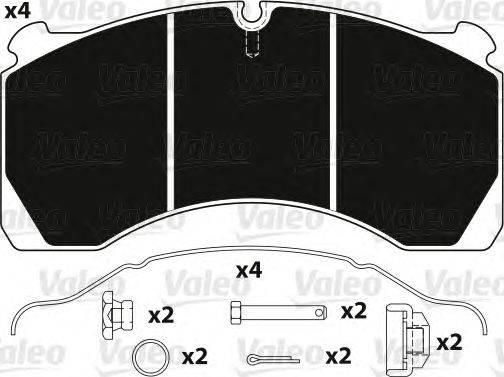 VALEO (НОМЕР: 882222) Комплект тормозных колодок, дисковый тормоз