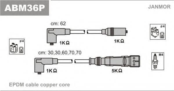 Комплект проводов зажигания JANMOR ABM36P
