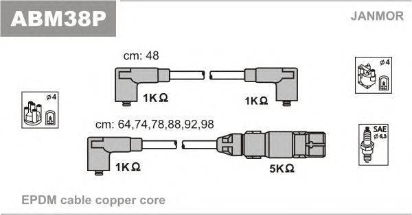 Комплект проводов зажигания JANMOR ABM38P