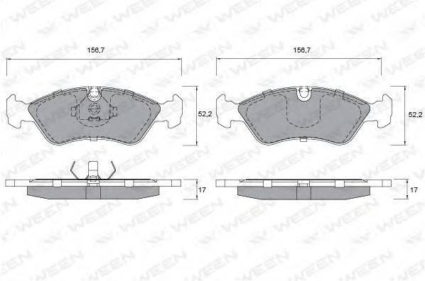 WEEN (НОМЕР: 151-1181) Комплект тормозных колодок, дисковый тормоз