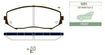 Комплект тормозных колодок, дисковый тормоз GOODWILL 1060 F
