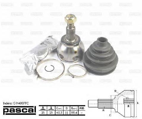 PASCAL (НОМЕР: G1M007PC) Шарнирный комплект, приводной вал