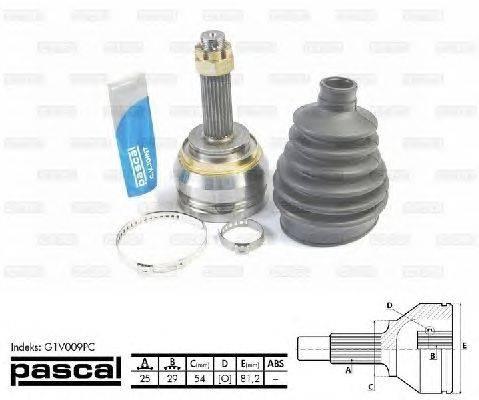PASCAL (НОМЕР: G1V009PC) Шарнирный комплект, приводной вал