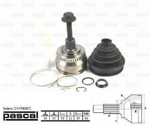 PASCAL (НОМЕР: G1W008PC) Шарнирный комплект, приводной вал