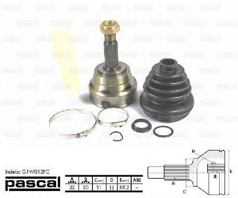 PASCAL (НОМЕР: G1W012PC) Шарнирный комплект, приводной вал
