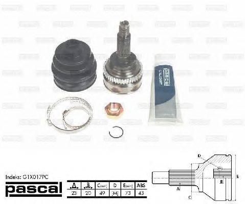 PASCAL (НОМЕР: G1X017PC) Шарнирный комплект, приводной вал