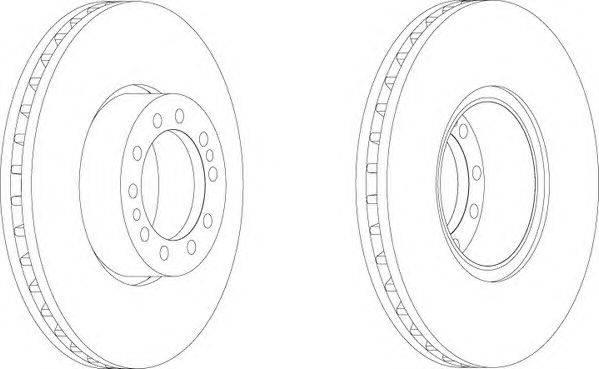 FERODO (НОМЕР: FCR244A) Тормозной диск