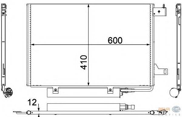 Конденсатор, кондиционер BEHR HELLA SERVICE 8FC 351 301-681