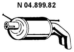 Глушитель выхлопных газов конечный EBERSPÄCHER 04.899.82