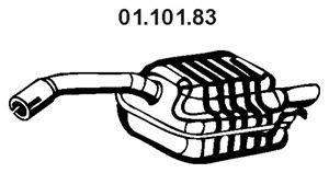 Глушитель выхлопных газов конечный EBERSPÄCHER 01.101.83