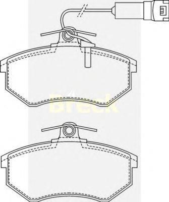 Комплект тормозных колодок, дисковый тормоз BRECK 20669 10 701 10