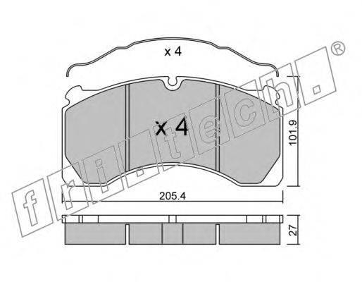 fri.tech. (НОМЕР: 619.0) Комплект тормозных колодок, дисковый тормоз