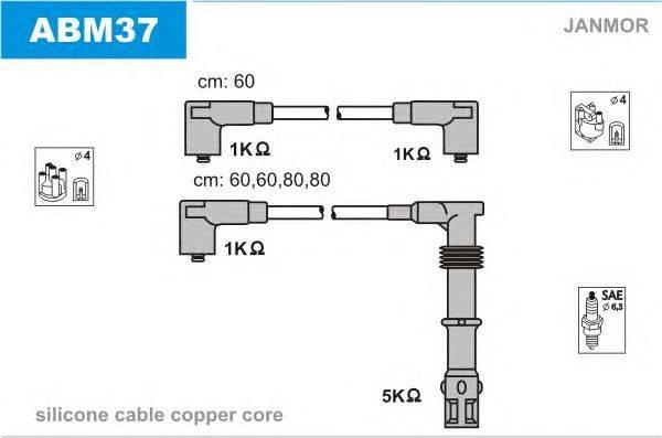 Комплект проводов зажигания JANMOR ABM37