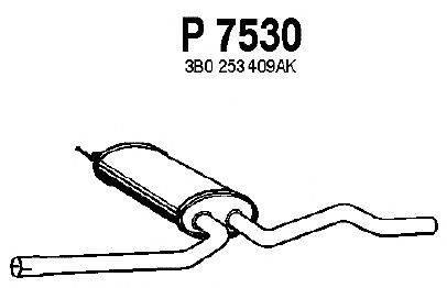 Средний глушитель выхлопных газов FENNO P7530