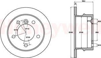 BENDIX (НОМЕР: 569120B) Тормозной диск