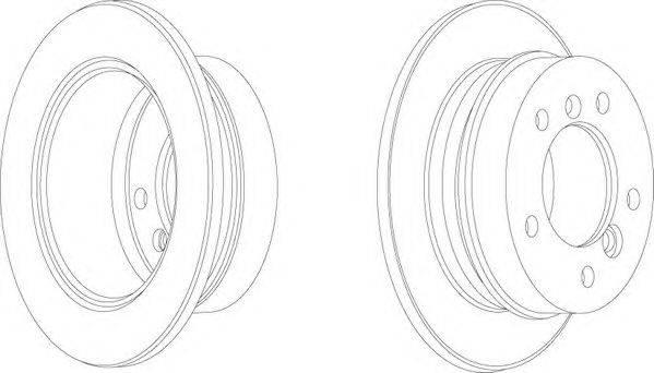 FERODO (НОМЕР: FCR230A) Тормозной диск