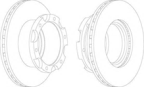 FERODO (НОМЕР: FCR306A) Тормозной диск