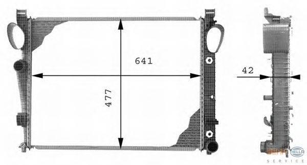 Радиатор, охлаждение двигателя BEHR HELLA SERVICE 8MK 376 712-571