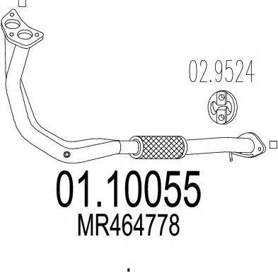 Труба выхлопного газа MTS 01.10055