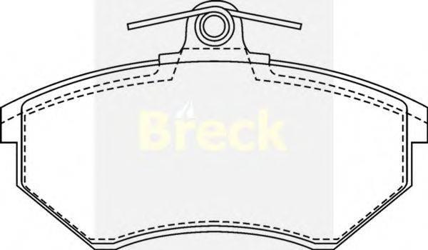 Комплект тормозных колодок, дисковый тормоз BRECK 20168 00 701 00