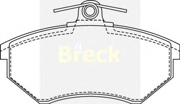 Комплект тормозных колодок, дисковый тормоз BRECK 20168 10 701 00
