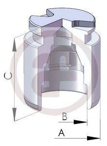 Поршень, корпус скобы тормоза AUTOFREN SEINSA D025119