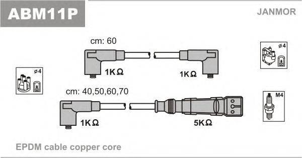Комплект проводов зажигания JANMOR ABM11P