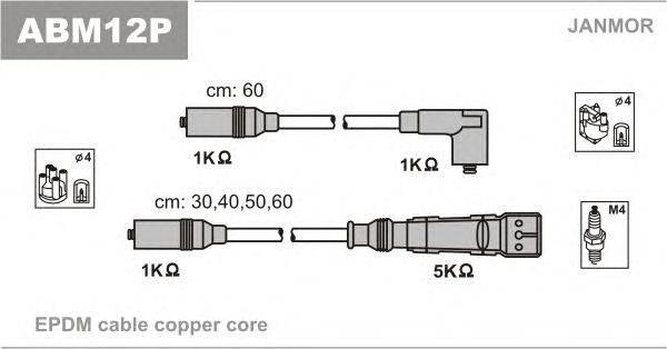 Комплект проводов зажигания JANMOR ABM12P