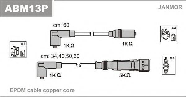 Комплект проводов зажигания JANMOR ABM13P