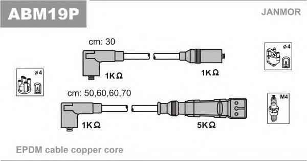 Комплект проводов зажигания JANMOR ABM19P