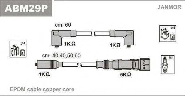 Комплект проводов зажигания JANMOR ABM29P