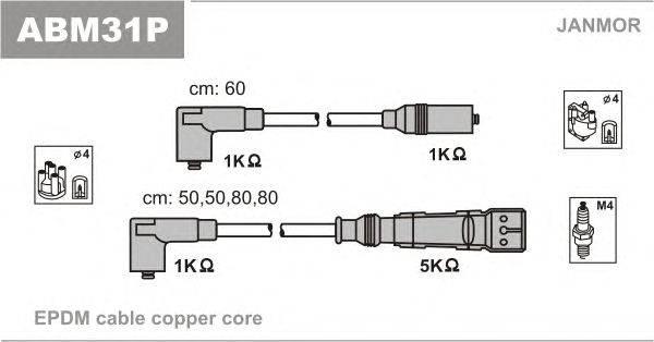 Комплект проводов зажигания JANMOR ABM31P