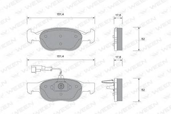 WEEN (НОМЕР: 151-1772) Комплект тормозных колодок, дисковый тормоз