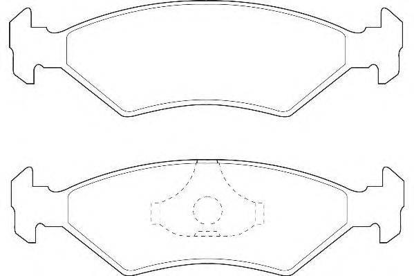 Комплект тормозных колодок, дисковый тормоз WAGNER WBP20640A