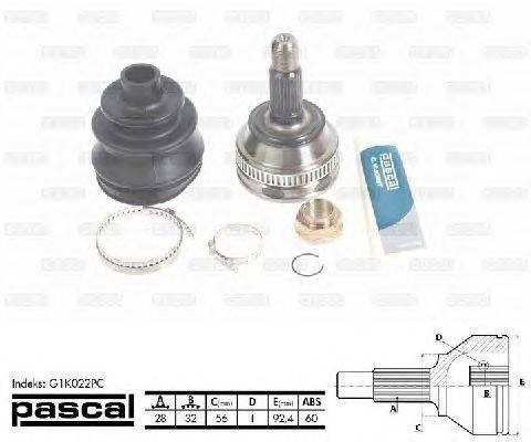 Шарнирный комплект, приводной вал PASCAL G1K022PC