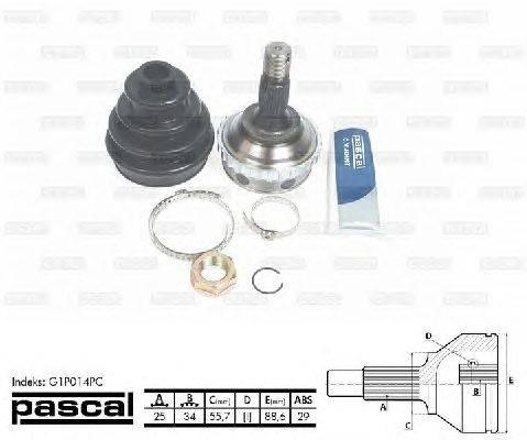 PASCAL (НОМЕР: G1P014PC) Шарнирный комплект, приводной вал