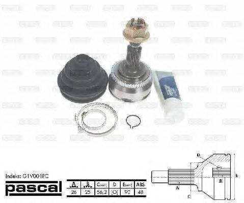 PASCAL (НОМЕР: G1V001PC) Шарнирный комплект, приводной вал
