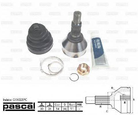 PASCAL (НОМЕР: G1X028PC) Шарнирный комплект, приводной вал