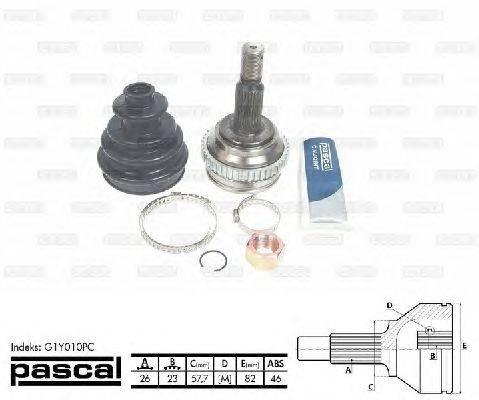 PASCAL (НОМЕР: G1Y010PC) Шарнирный комплект, приводной вал