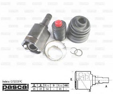 PASCAL (НОМЕР: G72005PC) Шарнирный комплект, приводной вал