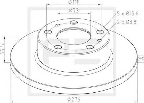 Тормозной диск PE Automotive 026.670-10A