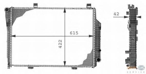 Радиатор, охлаждение двигателя BEHR HELLA SERVICE 8MK 376 710-351