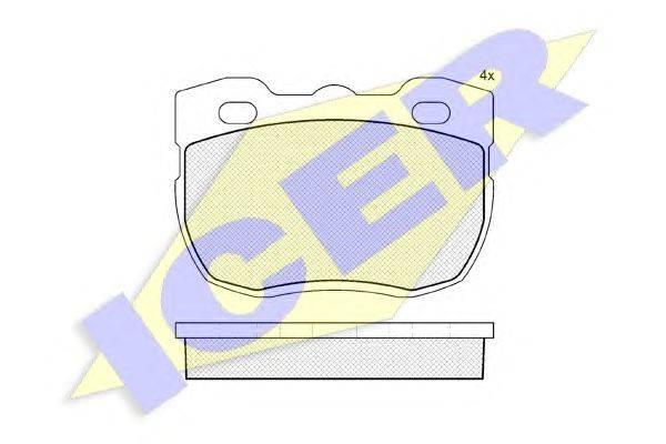 Комплект тормозных колодок, дисковый тормоз ICER 140800