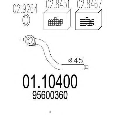 Труба выхлопного газа MTS 01.10400