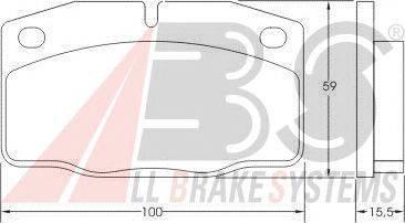 A.B.S. (НОМЕР: 36145) Комплект тормозных колодок, дисковый тормоз