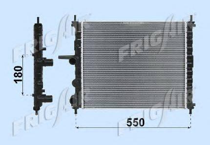 Радиатор, охлаждение двигателя FRIGAIR 0104.3020