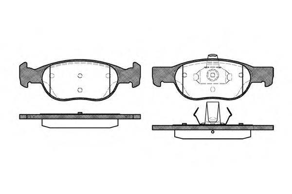 WOKING (НОМЕР: P4883.20) Комплект тормозных колодок, дисковый тормоз