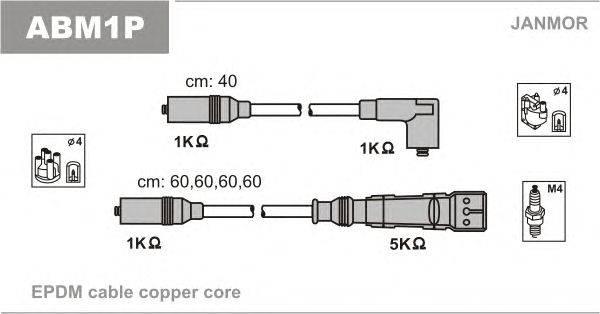 Комплект проводов зажигания JANMOR ABM1P