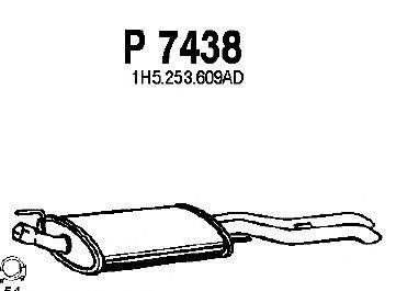 Глушитель выхлопных газов конечный FENNO P7438