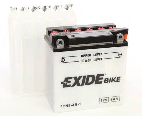 Стартерная аккумуляторная батарея EXIDE 12N9-4B-1